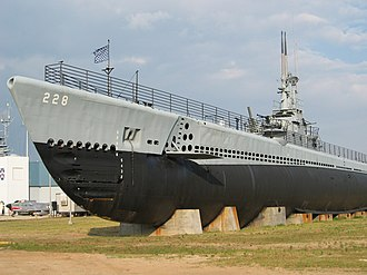 USS Drum (SS-228) - USS Drum (SS-228) on display as a museum ship