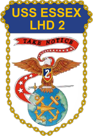 USS Essex (LHD-2) - Image: USS Essex LHD 2 Crest