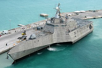 Green-water navy - Image: USS Independence (LCS 2) at Naval Air Station Key West on 29 March 2010 (100329 N 1481K 298)