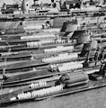 USS Orion (AS-18) with submarines at Norfolk Naval Station in the late 1950s.jpg