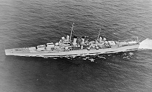 USS Wichita (CA-45) - Wichita in pre-war light gray, on 1 May 1940