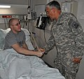 US Army 51649 Spc. Ryan G. Christian meets Chief of Staff of the Army Gen. George W. Casey Jr.jpg