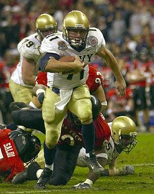 Dual-threat quarterback - Navy quarterback Craig Candeto rushing