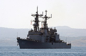 USS Spruance (DD-963) - Spruance arrives for a port visit in Crete in 2004