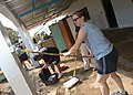 US Navy 061211-N-1328C-022 Cryptologic Technician Collection 3rd Class Megan Morgan, from Gainesville, Ga., and other service members Combined Joint Task Force-Horn of Africa (CJTF-HOA) and Camp Lemonier volunteered to help cle.jpg