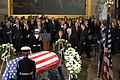 US Navy 061230-D-1142M-006 Vice President Richard B. Cheney accompanies former First Lady Betty Ford as she approaches the casket of her husband former President Gerald R. Ford.jpg
