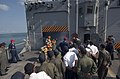 US Navy 070211-N-8534H-002 Sailors stationed aboard the guided-missile frigate USS Gary (FFG 51) demonstrate damage control procedures to Royal Cambodian Navy Sailors on the flight deck of Gary.jpg