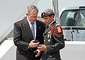 US Navy 070501-N-5783F-008 President George W. Bush presents Daniel Middaugh the President's Volunteer Service Award upon arrival to MacDill Air Force Base.jpg