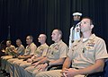 US Navy 070719-N-3557N-091 At the U.S. Navy Memorial, the 2007 Sailors of the Year receive a Navy and Marine Corps Commendation Medal from Adm. Patrick M. Walsh during the 2007 Sailor of the Year ceremony.jpg