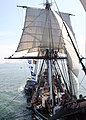US Navy 070831-N-9793B-001 USS Constitution sails under her own power, manned by more than 150 sailors selected for promotion to chief petty officer.jpg