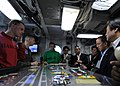 US Navy 100727-N-7191M-040 Capt. Daniel Grieco, executive officer of the aircraft carrier USS George Washington (CVN 73) speaks to Republic of Korea Minister of National Defense Tae Young Kim.jpg