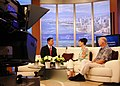 US Navy 100805-N-7498L-014 Carole and Jim Hickerson are interviewed on the Navy News segment of KHON2 TV by anchor Jai Cunningham.jpg