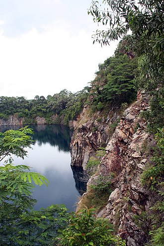 Pulau Ubin - An abandoned Quarry on Pulau Ubin.