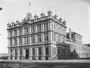 Union Company - Head office, Water Street, Dunedin designed 1883