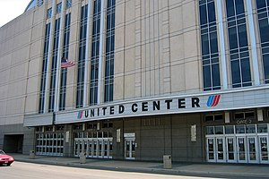 Dennis Rodman -  The United Center, home of the Chicago Bulls. Rodman wrote history in the 1996 NBA Finals when he twice secured 11 offensive rebounds in this building, tying an all-time NBA record.