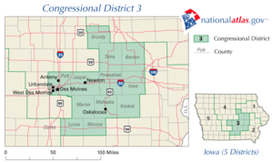 United States House of Representatives elections in Iowa, 2006 - Image: United States House of Representatives, Iowa District 3 map