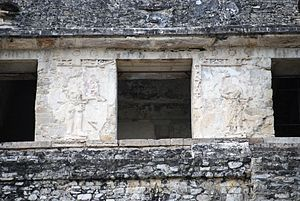 Palenque - The two inner columns from the Temple of the Inscriptions
