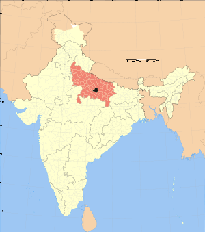 Uttar Pradesh district location map Rae Bareli.svg