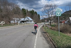 VT Route 44 eastbound, West Windsor VT.jpg