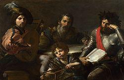 Valentin de Boulogne: The Four Ages of Man