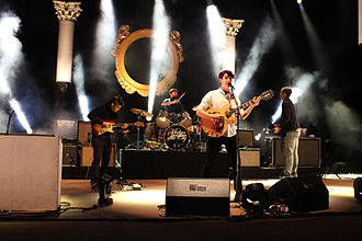 World music - Vampire Weekend performing at Red Rocks Amphitheatre in 2013