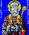 Vannes - cathédrale, vitrail des saints Patern et Mériadec Detail Metiadec.jpg