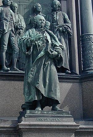 Gerard van Swieten - Gerard van Swieten on the memorial to Maria Theresa, Vienna