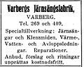 Varbergs Järnsängsfabrik, annons 1927.jpg
