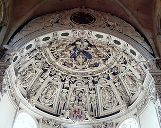 Cathedral of Trier - Baroque stucco-work in the vault of the west-end choir.