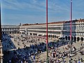 Venezia Basilica di San Marco Terrasse Blick auf die Piazza San Marco 3.jpg