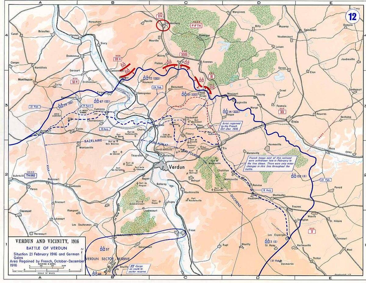 Schlachtfelder Des 2 Weltkriegs Karte.Schlacht Um Verdun Wikipedia