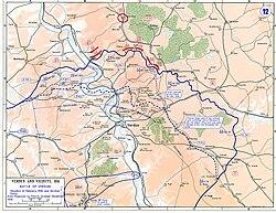 Verduni csata térképe