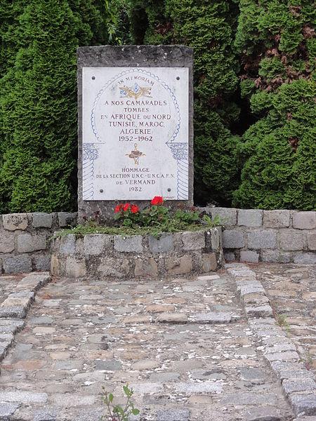 Vermand (Aisne) monument guerres 1952-1962