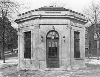 Public toilet - Vespasienne pissoir in Montréal, Quebec