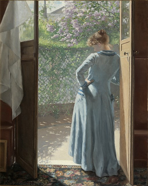Vid ateljédörren 1885