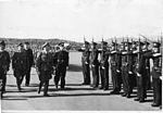 Vidkun Quisling med flere inspiserer tropper. Fornebu(?) (8615512425).jpg