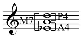 Viennese trichord - Image: Viennese trichord quartal