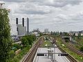 View from Pulitzbrücke on S-Westhafen, Berlin, looking east 20130616 1.jpg