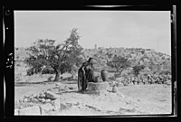 View of Bethlehem from the south. Foreground, Bethlehem woman drawing water. Sofie LOC matpc.22401.jpg