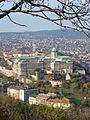 View of Castle Hill from Citadella - Buda Side - Budapest - Hungary - 02.jpg