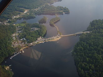 Long Lake, New York - The hamlet of Long Lake from the air