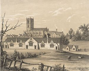 View of Mold Church, and national schools