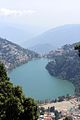 View of Naini Lake from upper hills at Nainital, Uttarkhand, India.jpg