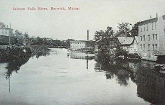 Berwick, Maine - Image: View of Salmon Falls River, Berwick, ME