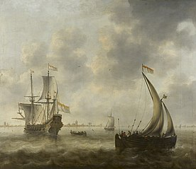 View of Ships on a River