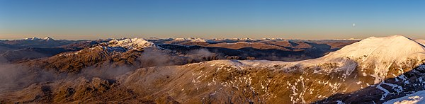 View southwest from Ben Lawers, Scottish Highlands, Scotland
