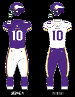 2015 Minnesota Vikings season - Image: Vikings uniforms 16