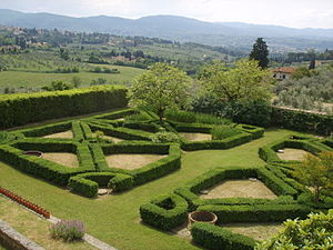 Maiano - Gardens of the villa at Maiano