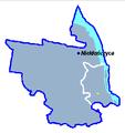 Village Nieklonczyca on commune Police map.png