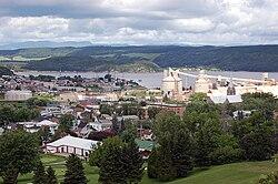 Comune di La Baie (in blu) nella città di Saguenay